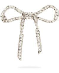 Oscar de la Renta - Crystal Embellished Bow Brooch - Lyst