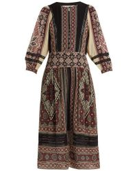 Sea - Ezri Printed Crepe De Chine Dress - Lyst