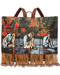 JW Anderson - X Gilbert & George Print Canvas Backpack - Lyst