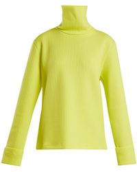 MM6 by Maison Martin Margiela - Ribbed Technical-jersey Roll-neck Sweater - Lyst