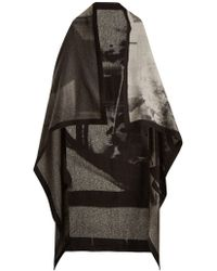 Mary McCartney - Listen-print Wool And Silk-blend Scarf - Lyst
