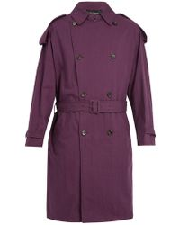 Raf Simons | Double-breasted Cotton-blend Belted Trench Coat | Lyst