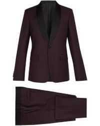 Prada - Contrast Panel Single Breasted Mohair Blend Suit - Lyst