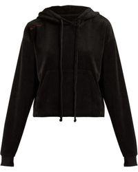 The Upside - Hoya Velour Hooded Sweatshirt - Lyst