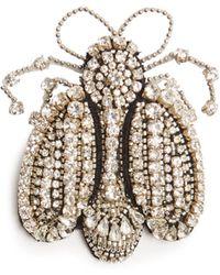 Rochas - Crystal-bee Brooch - Lyst