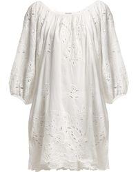 Juliet Dunn - Broderie Anglaise Cotton Dress - Lyst