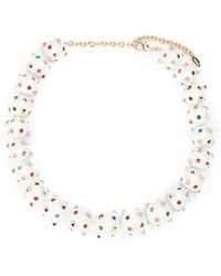 Valentino | Rockstud And Crystal-embellished Sphere Necklace | Lyst