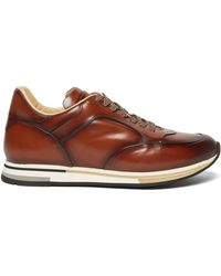 Dunhill Duke Runner Patina Leather Sneakers