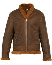 Isabel Marant - Anders Shearling Lined Leather Jacket - Lyst