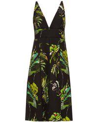 Proenza Schouler - Tropical Print Cut Out Dress - Lyst