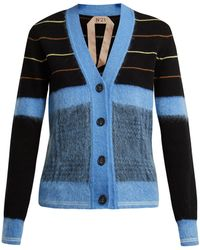 N°21 - Striped Wool Cardigan - Lyst