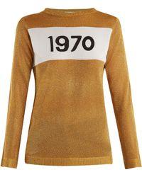 Bella Freud - 1970 Intarsia Knit Jumper - Lyst
