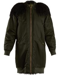 Mr & Mrs Italy - Mongolian Fur-lined Hooded Long-line Bomber Jacket - Lyst