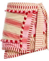 Dodo Bar Or - Hoza Embroidered Cotton Wrap Skirt - Lyst