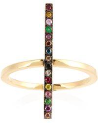 Ileana Makri - Rainbow Stones & Yellow Gold Ring - Lyst