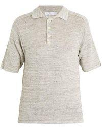 Inis Meáin - Point-collar Linen Polo Shirt - Lyst
