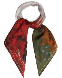 Mary McCartney - Profile On Red-print Silk Scarf - Lyst