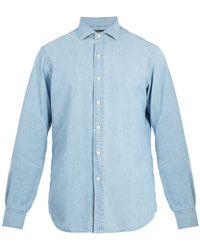 Polo Ralph Lauren - Spread-collar Cotton-chambray Shirt - Lyst
