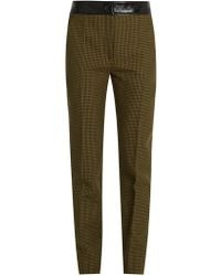 Courreges - Hound's-tooth Slim-leg Wool Trousers - Lyst