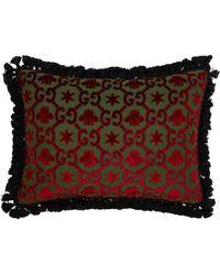 Gucci - Gg Jacquard Velvet Cushion - Lyst