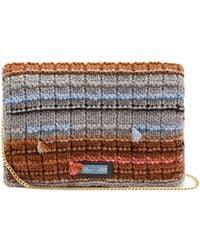 Prada - Striped Knit Pouch - Lyst