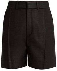 Chloé - Raw-edge Silk Shorts - Lyst