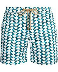 Thorsun - Titan-fit Blocks-print Swim Shorts - Lyst