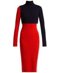 Sportmax - - Nadir Dress - Womens - Red Multi - Lyst