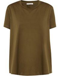 Moncler - Ruffle-trimmed Cotton T-shirt - Lyst