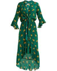 Adriana Degreas - Josephine Baker Maxi-knot Asymmetric-dress - Lyst