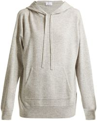 Allude - Wool And Cashmere-blend Hooded Jumper - Lyst