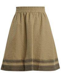 Cecilie Copenhagen - Villablack Scarf-jacquard A-line Cotton Skirt - Lyst