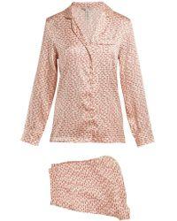 Stella McCartney - Ellie Handwritten Stretch Silk Pyjama Set - Lyst