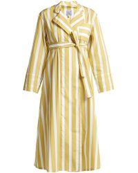Thierry Colson - Sasha Striped Cotton Poplin Dress - Lyst