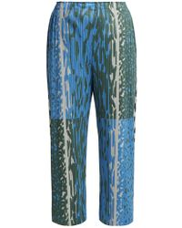 Pleats Please Issey Miyake - Flash Animal Print Pleated Trousers - Lyst