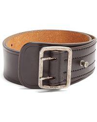 Saint Laurent | Wide Leather Belt | Lyst
