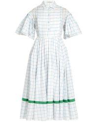 Vika Gazinskaya - Checked Cotton-poplin Dress - Lyst
