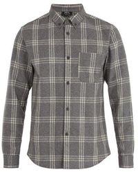 A.P.C. - Fitz Single-cuff Wool-blend Felt Shirt - Lyst