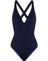 Diane von Furstenberg   V-neck Cross-back Reversible Swimsuit   Lyst
