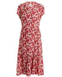 HVN - Charlotte Strawberry-print Silk Dress - Lyst