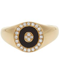 Anissa Kermiche - Diamond, Onyx & Yellow Gold Ring - Lyst