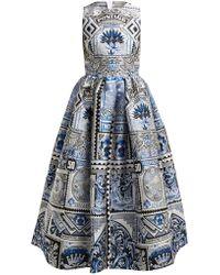Mary Katrantzou - Astere Postcard Jacquard Midi Dress - Lyst