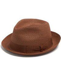 Borsalino - Panama Ribbon-embellished Hat - Lyst