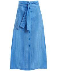 Diane von Furstenberg | Mid-rise Striped Linen Skirt | Lyst