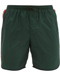 Gucci - Tape Logo Swim Shorts - Lyst