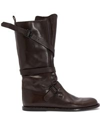 Ann Demeulemeester - Aged Effect Leather Boots - Lyst