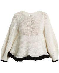 Apiece Apart - Quasar Contrast-trim Cotton-blend Sweater - Lyst