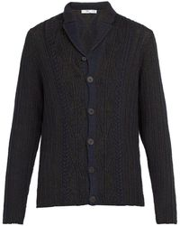 Inis Meáin - Cable Knit Linen And Cotton Blend Cardigan - Lyst