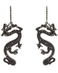 Valentino - Dragon Crystal-embellished Drop Earrings - Lyst