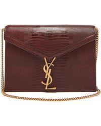 b064732732d5 Lyst - Saint Laurent Université Monogram Leather Cross-body Bag in ...